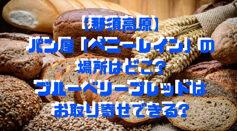 【那須高原】 パン屋「ペニーレイン」の 場所はどこ? ブルーベリーブレッドは お取り寄せできる?アイキャッチ